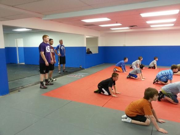 kids wrestling camp