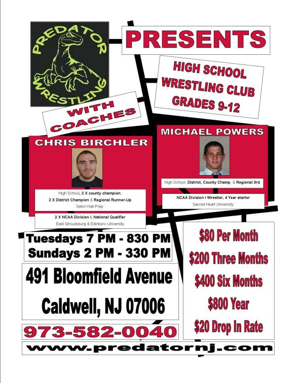 High School Wrestling Flyer