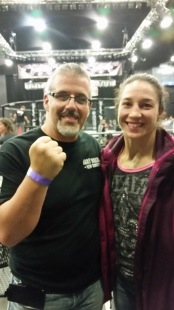 At the Sand Casino Hotel, Bethlehem PA, with UFC Women's Pro Fighter Sara McMann