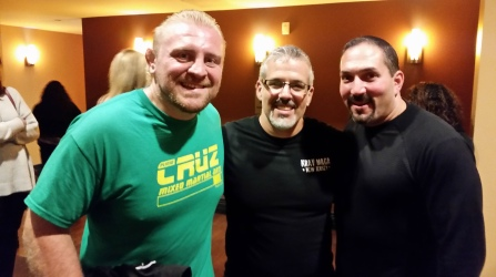 With 2 time NCAA Division I, National Champ and Olympic Wrestler, Steve Macco, @Plinio Cruz, CFFC Fight Night Bethlehem PA